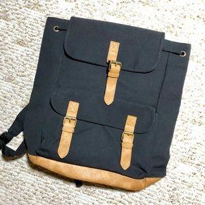 DSW JM Wechter Black Canvas Backpack
